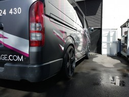 Style Ace Wide Flares - Toyota Hiace 2005+ 25mm Wider/20mm Down