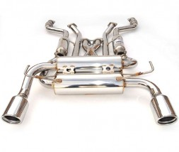 Invidia Gemini Cat-Back Exhaust - Nissan Skyline 350GT Coupe 2003-2006 (Rolled Stainless Tips)