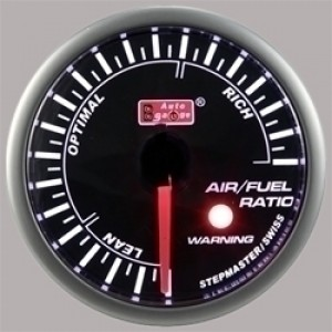 Autogauge Smoked 60mm Stepper Gauge - Air/Fuel Ratio