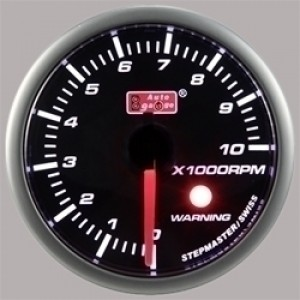 Autogauge Smoked 60mm Stepper Gauge - Tachometer