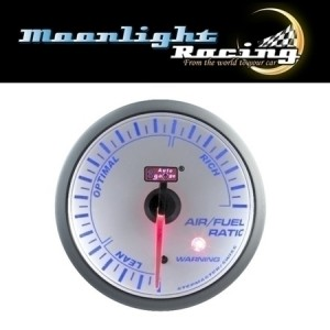Autogauge White 60mm Stepper Gauge - Air/Fuel Ratio