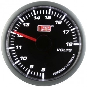 Autogauge Smoked 60mm Stepper Gauge - Voltage