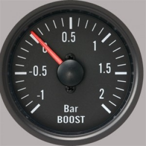 "Autogauge 2"" Black Boost Gauge (PSI)"
