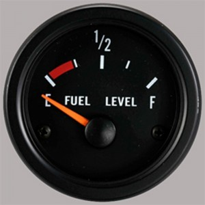 "Autogauge 2"" Black Fuel Level Gauge with float"