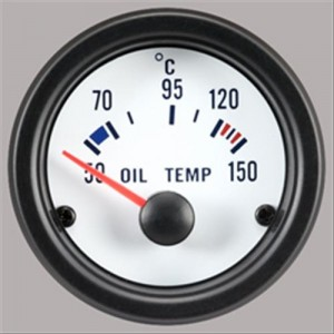 "Autogauge 2"" White Oil Temperature Gauge"