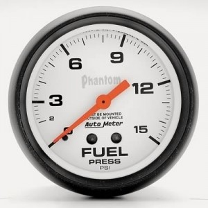 "Autometer 2-5/8"" Phantom Analog (5810) Fuel Pressure, 0-15 psi"