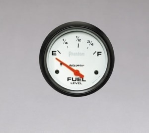 "Autometer 2-5/8"" Phantom Analog (5814) Fuel Level, Empty/Full, 0 Ohms/90 Ohms"