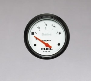 "Autometer 2-5/8"" Phantom Analog (5816) Fuel Level, Empty/Full, 240 Ohms/33 Ohms"