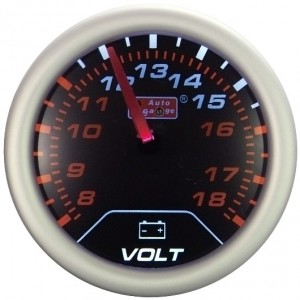 "Autogauge 2"" AU Smoked Voltage Gauge"