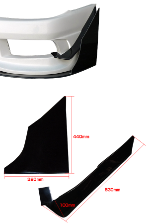 Origin Labo Large Front Canards - Nissan Silvia S15 Racing Line (Carbon)