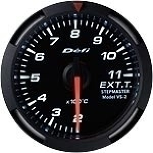 Defi Racer Series - 52mm EGT (White/Red/Blue)
