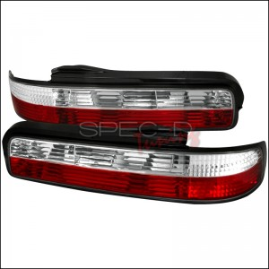 Spec-D Tuning Red/Clear Tail Lights - Nissan Silvia S13