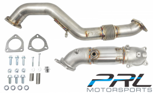 PRL Motorsports Down Pipe/Front Pipe Combo - Honda Civic FK8 Type R (High Flow Cat)
