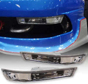 MLRacing Clear Front Bumper Indicators - Nissan S14 FL