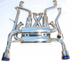 Invidia Gemini Cat-Back Exhaust - Nissan Skyline 350GT Coupe 2003-2006 (Rolled Titanium Tips)