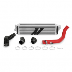 Mishimoto Front Mount Intercooler - Honda Civic Type R FK8 (Silver Core/Red Piping)