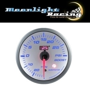 Autogauge White 60mm Stepper Gauge - Boost (PSI)