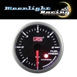 Autogauge Smoked 60mm Stepper Gauge - Fuel Pressure (PSI)