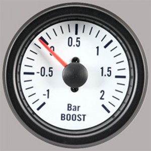"Autogauge 2"" White Boost Gauge (PSI)"