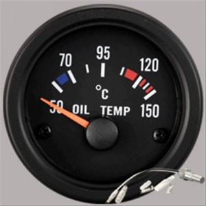 "Autogauge 2"" Black Oil Temperature Gauge"