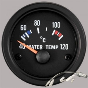 "Autogauge 2"" Black Water Temperature Gauge"