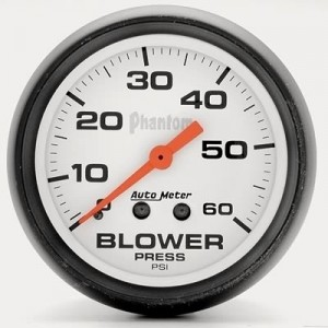 "Autometer 2-5/8"" Phantom Analog (5802) Blower Pressure, 0-60 psi"