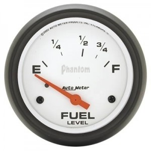 "Autometer 2-5/8"" Phantom Analog (5815) Fuel Level, Empty/Full, 73 Ohms/8-12 Ohms"