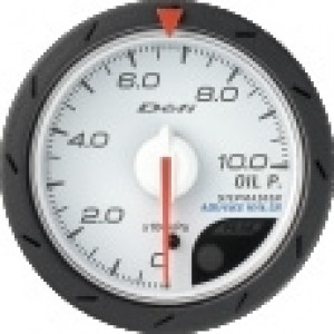 Defi Link Advance CR Gauge - Oil Pressure 52mm White