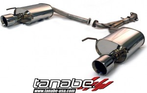 Tanabe Medallion Touring Axle Back Exhaust System - Lexus GS 2006-2011