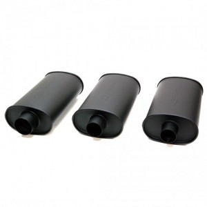 Blox Racing SL Sports Muffler - Matte Black