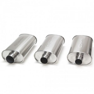 Blox Racing SL Sports Muffler - Brushed Silver