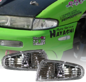MLRacing Crystal Front Corner Lights - Nissan Silvia S14 PFL