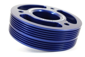 GrimmSpeed Lightweight Crank Pulley - All EJ Subaru Motors (Blue)