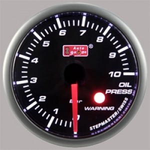 "Autogauge 2"" White LED Oil Pressure Gauge (PSI)"
