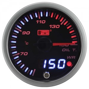 Autogauge 60mm Smoked FLD Oil Temperature Gauge