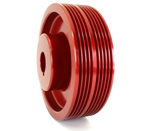 GrimmSpeed Lightweight Crank Pulley - All EJ Subaru Motors (Red)