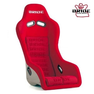 Bride Exas III Full Bucket Seat - Silver FRP/Red Logo