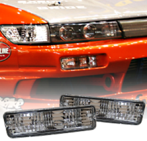 MLRacing Crystal Front Bumper Indicators - Nissan 180SX/S13 (Square Type)