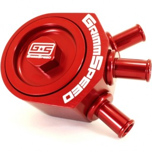GrimmSpeed Air/Oil Separator - Subaru WRX/STi/LGT/FXT (Red)