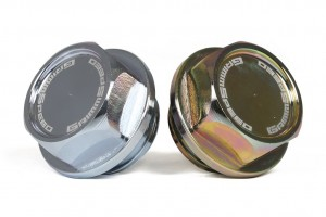 "GrimmSpeed ""The Bolt"" Oil Cap - Subaru (Clear Zinc Finish)"