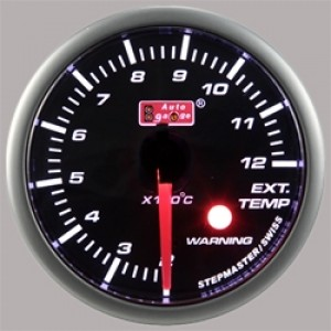 "Autogauge 2"" White LED Exhaust Temperature Gauge"