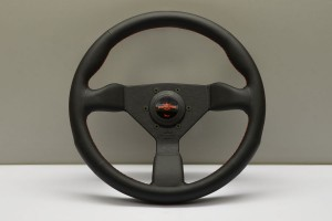 Nardi Personal Steering Wheel - Neo Grinta Black Leather/Red Stitching 330mm