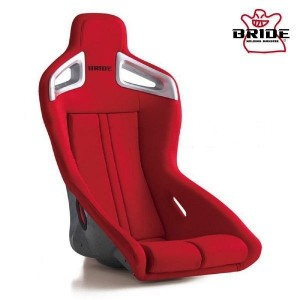 Bride A.i.R Full Bucket Seat - Silver FRP/Red Fabric